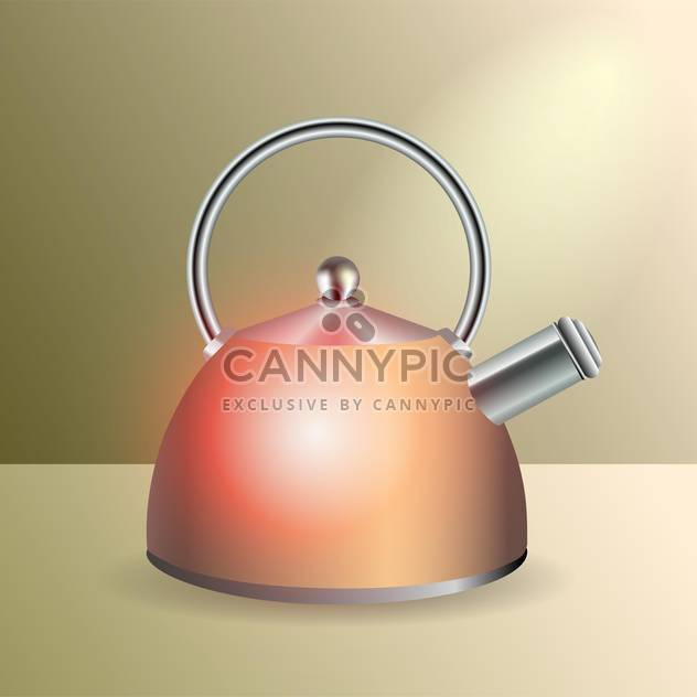 Vector illustration of glossy kettle - Free vector #128552