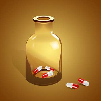 Vector illustration of jar with pills - vector gratuit #128572