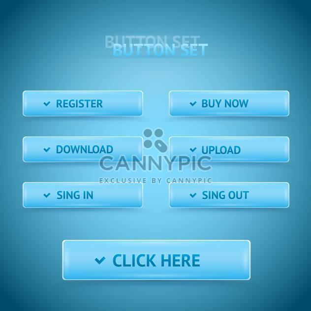 Vector blue premium web buttons. - Free vector #128612