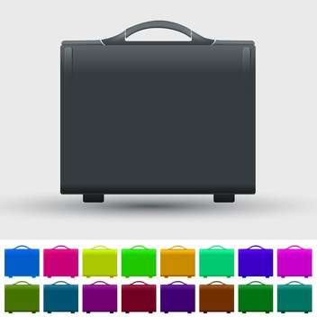 Vector set of colorful travel suitcases - vector gratuit #128622