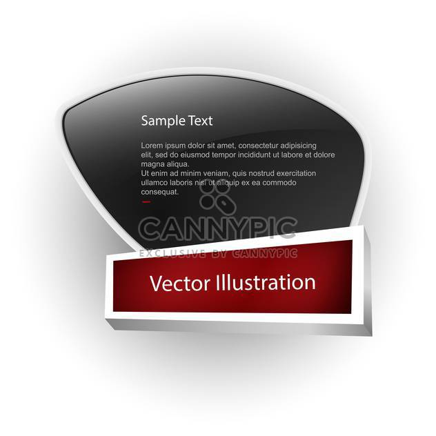 Vector banner with white sample text on black board - Free vector #128742