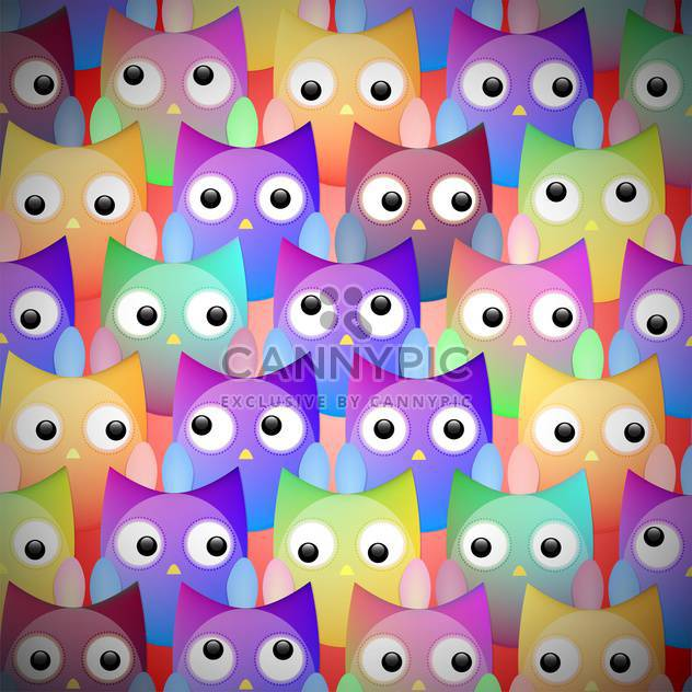Vector colorful owls seamless pattern - Free vector #128782