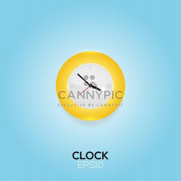 Vektor-Illustration der Uhr auf blauem Hintergrund - Kostenloses vector #128832