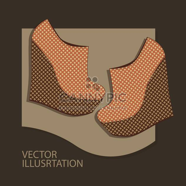 Vector background with brown woman shoes. - Free vector #128862