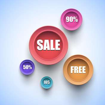Set of colorful vector sale labels - Free vector #128882
