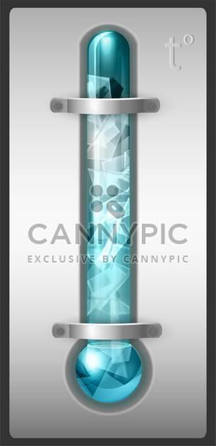 Thermometer blau gefüllt mit Eis-Vektor-illustration - Kostenloses vector #128922