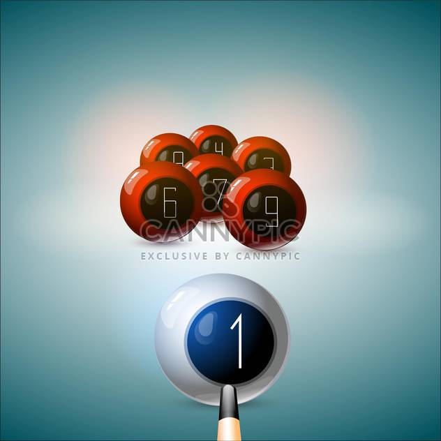 cue hit on white billiard ball - Free vector #129012