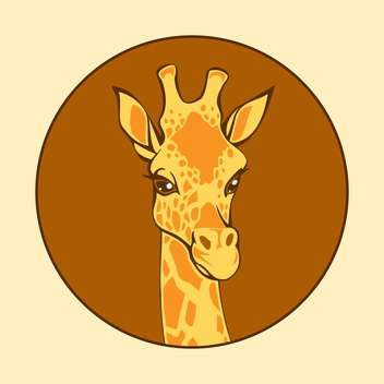 head of giraffe vector illustration - vector gratuit #129022