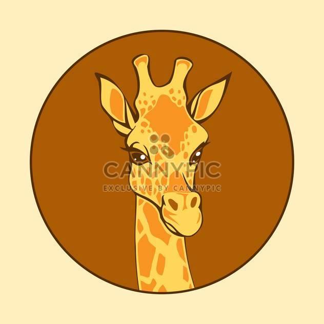 head of giraffe vector illustration - Free vector #129022