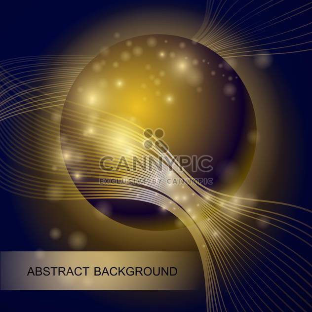 abstract background with gold glass ball - Free vector #129082