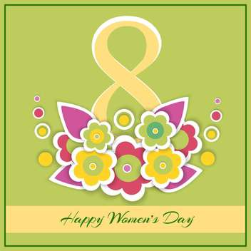 happy women's day greeting card - vector gratuit #129092