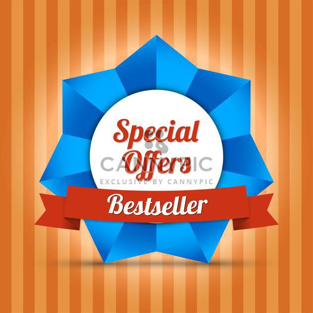 bestseller special offers label - Free vector #129112