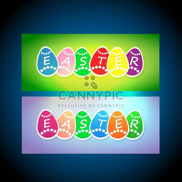 vector easter holiday cards - Free vector #129122
