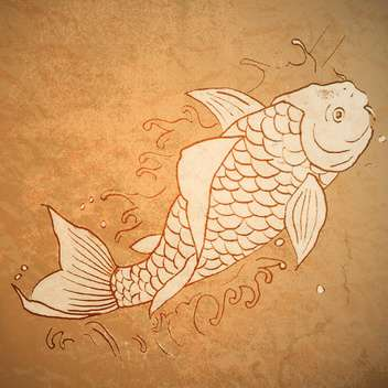 vintage vector of catfish illustration - Free vector #129162