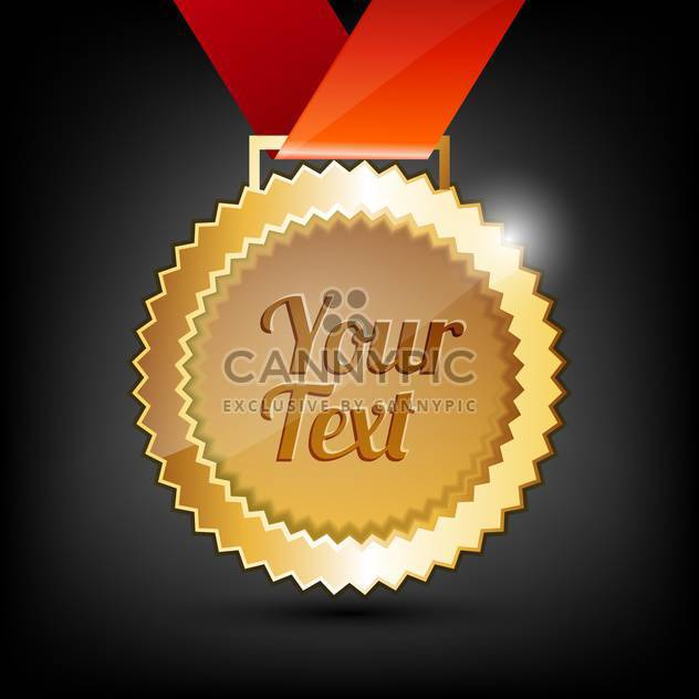 vector background with golden medal - Free vector #129182