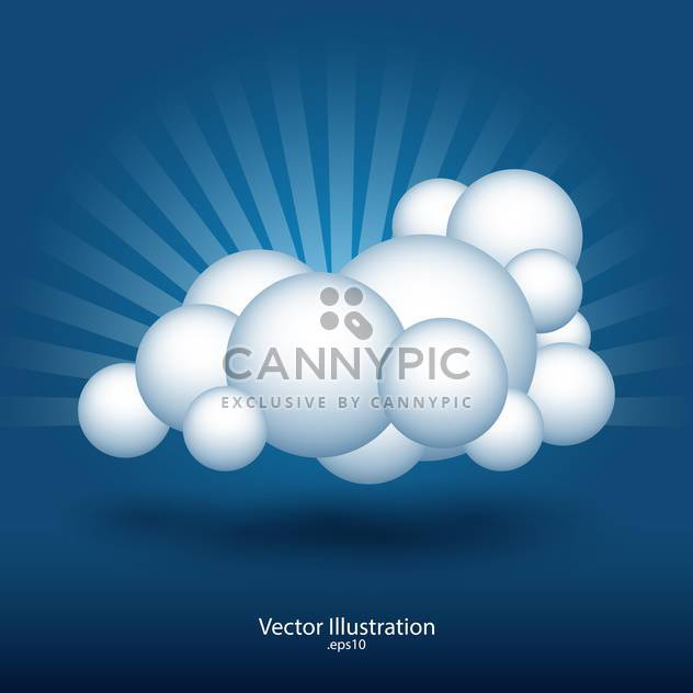 abstrakte Wolke Vektor-illustration - Free vector #129192