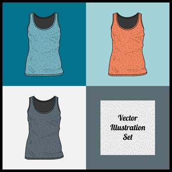 Vector illustration set of female singlets - Free vector #129302