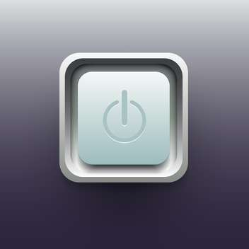 Vector illustration of Power button on gray background - Free vector #129322