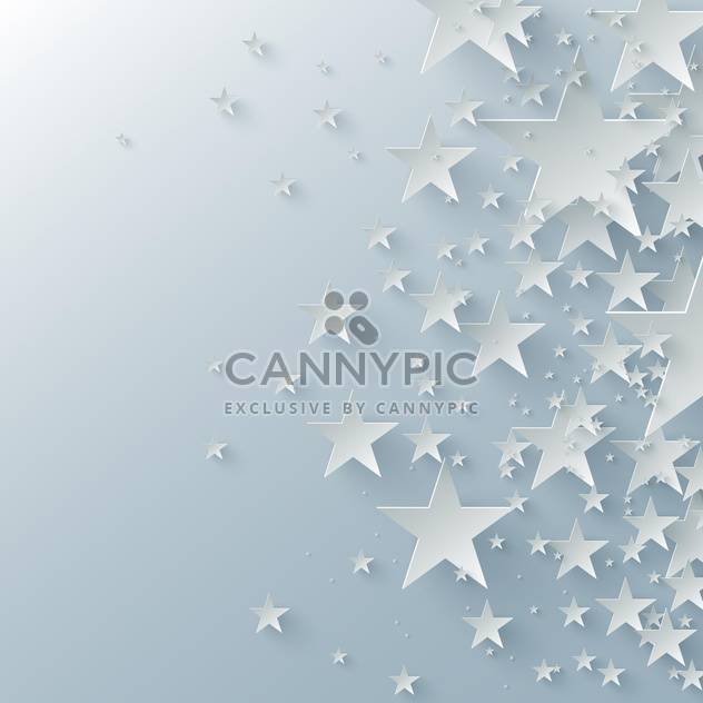 Vector background with paper stars - Free vector #129602