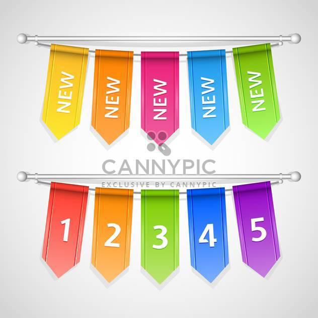 Vektor setzen bunte Verkauf Etiketten mit Zahlen am Seil hängend - Free vector #129642
