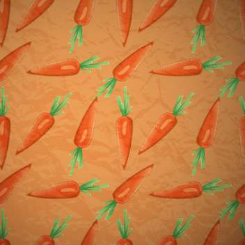 Vector orange seamless background with carrots - vector gratuit #129702