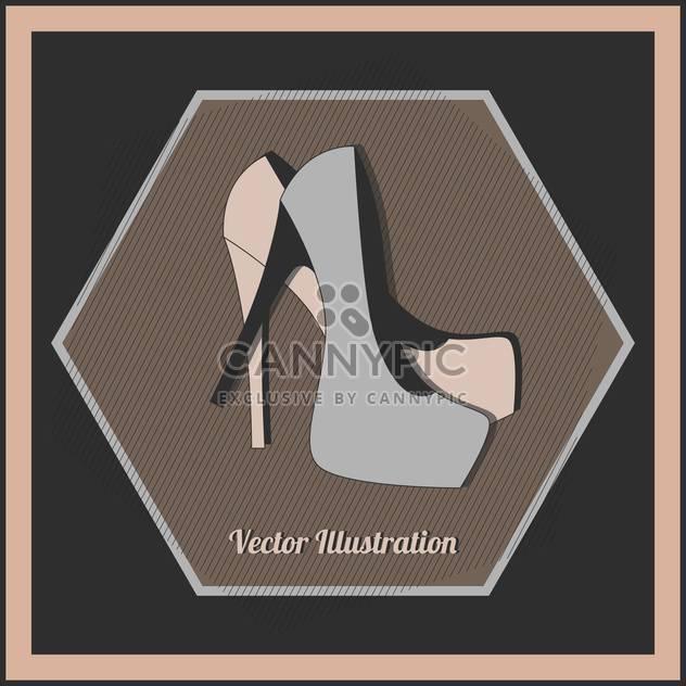 Vektor-Illustration Mode weibliche high Heels Schuhe - Kostenloses vector #129782