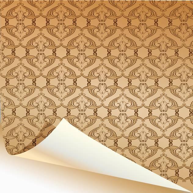 Vintage yellow wallpaper pattern background - vector #129902 gratis