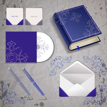 Vector templates of book, pen, envelope and disk - vector gratuit #129962