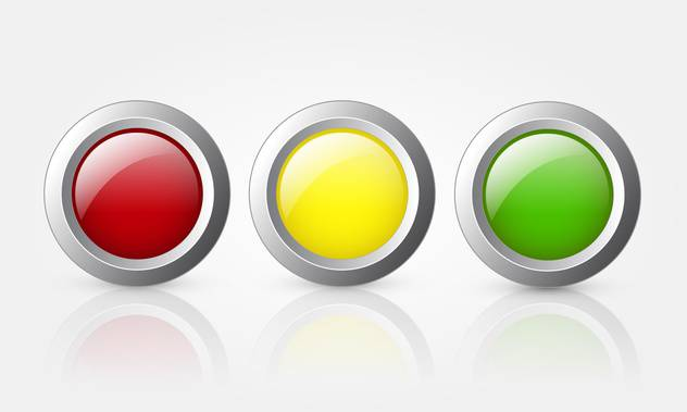 colorful glossy buttons background - Free vector #130242