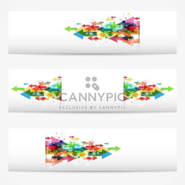 vector business banners set - Free vector #130272