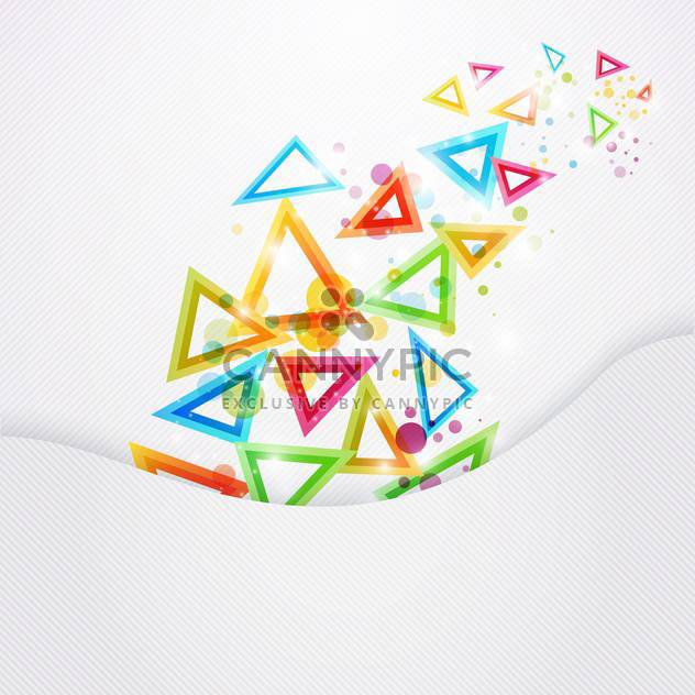 colored vector triangles background - Free vector #130292