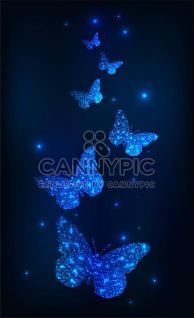 abstract background with glowing butterflies - Free vector #130322