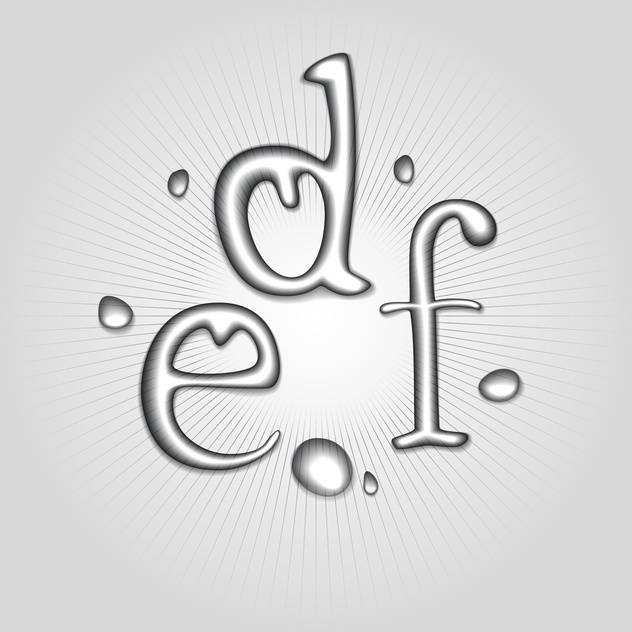 Vector water letters D, E, F - Free vector #130362