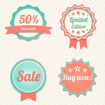 Set with sale vector labels - Kostenloses vector #130432