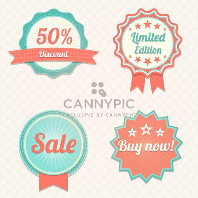 Set with sale vector labels - Free vector #130432