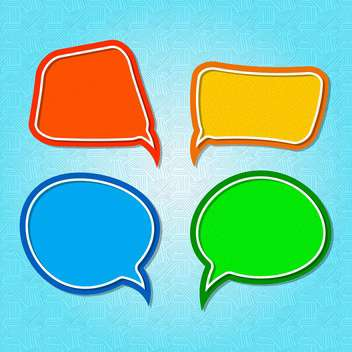 Vector set of colorful speech bubbles - vector gratuit #130552