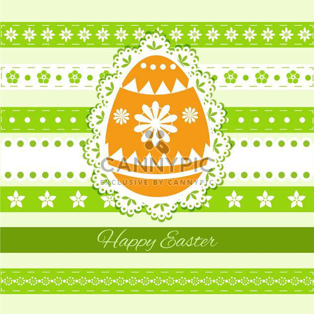 Happy Easter Greeting Card - Free vector #130562