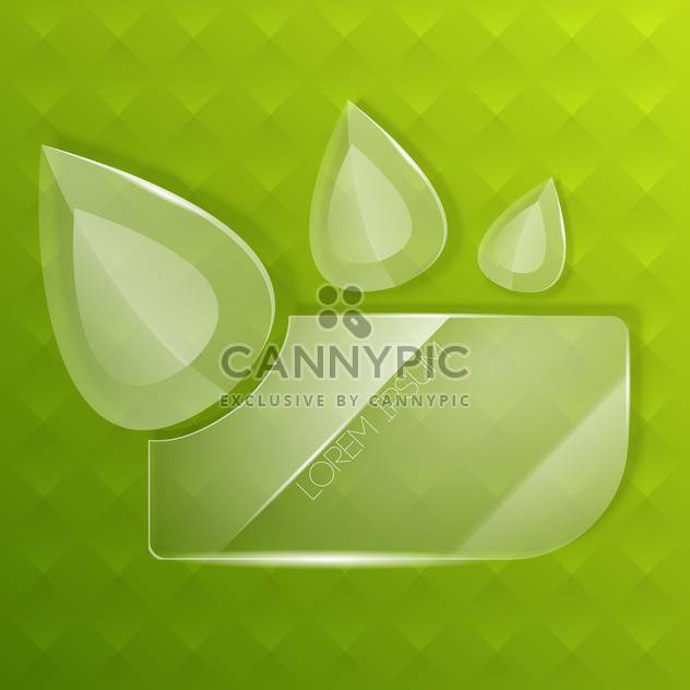 Abstract vector background with glass drops - Free vector #130582