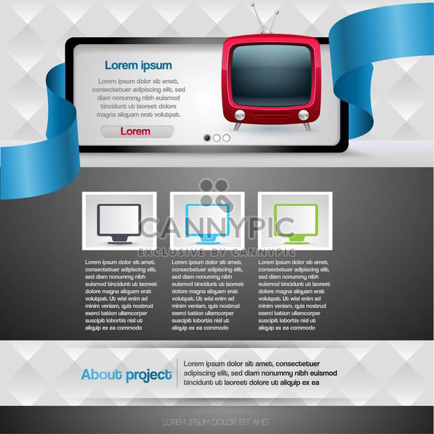 vector illustration of Website design template - Free vector #130592