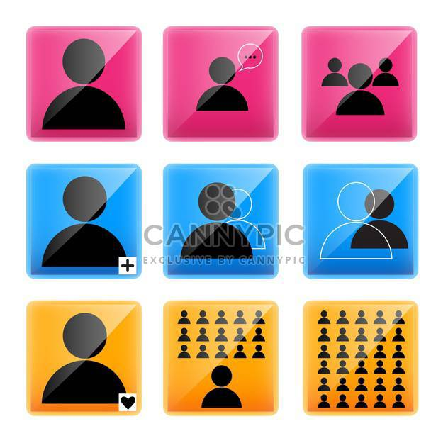 vector illustration of businessmen icons - Free vector #130602