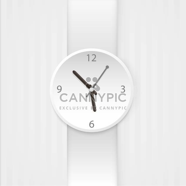 Vector wristwatch isolated on white background - Free vector #130672