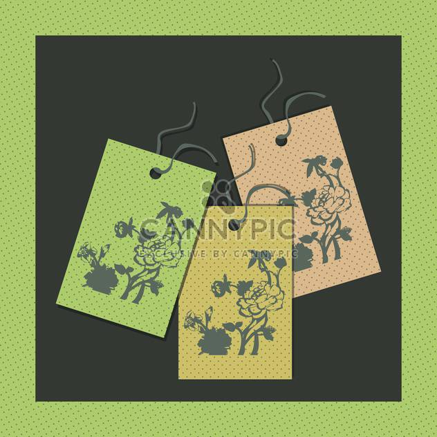 Vektor-Illustration von Papier floral tags - Free vector #130732
