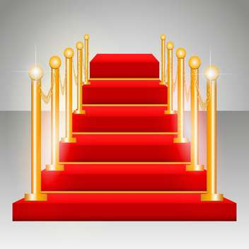 vector illustration of red carpet victory podium on grey background - Free vector #130772