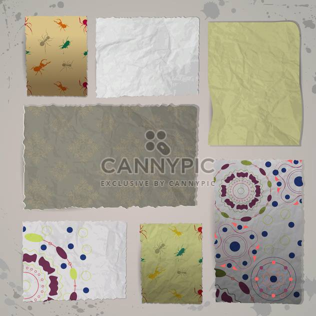 vector illustration of old paper textures - Free vector #130792