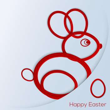 Happy easter bunny on blue background - vector gratuit #130802