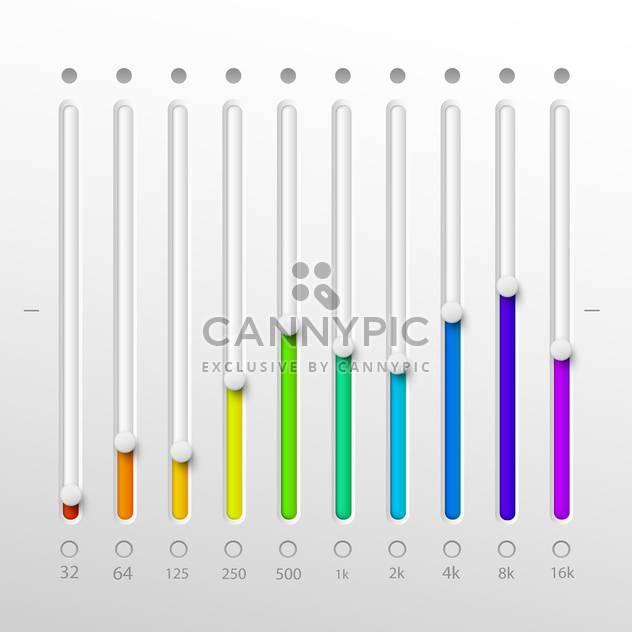 Volume sliders set on white background - Free vector #130832