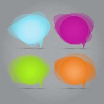 Vector set of speech bubbles illustration - vector gratuit #130842