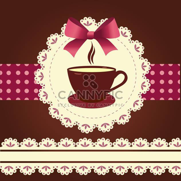 Vector card with coffee mug illustration - Free vector #130872