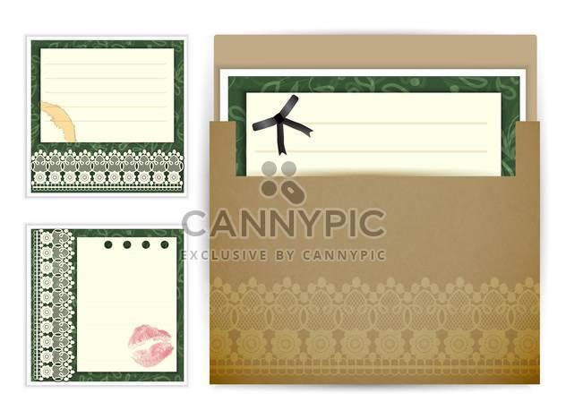 Alte Postkarte Hintergrund Probe mit verschiedenen Elementen - Kostenloses vector #130942