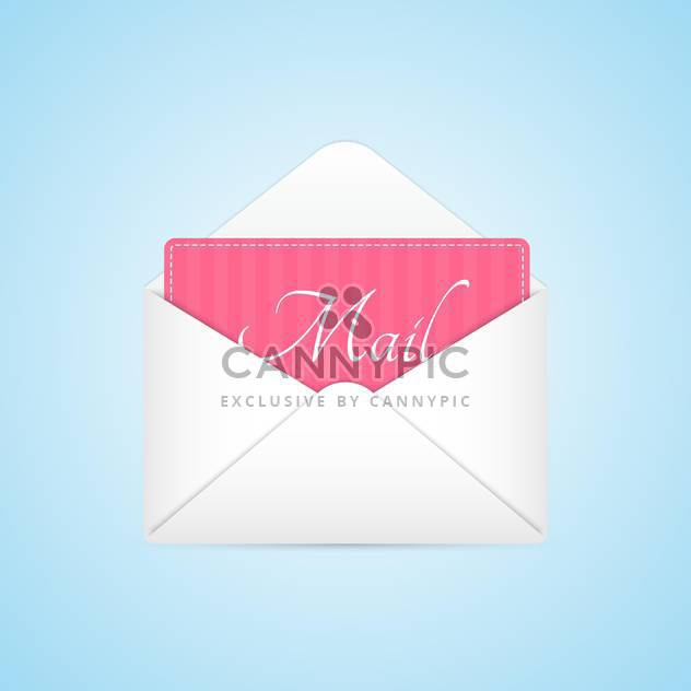 Opened envelope with pink paper sheet - Free vector #130952